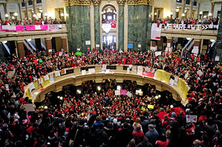 Madison Protest: Inside the rotunda | by Jessie Reeder