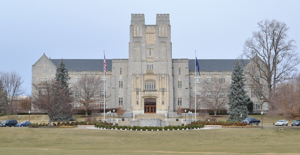 Burruss Hall The Administration Building At Virginia
