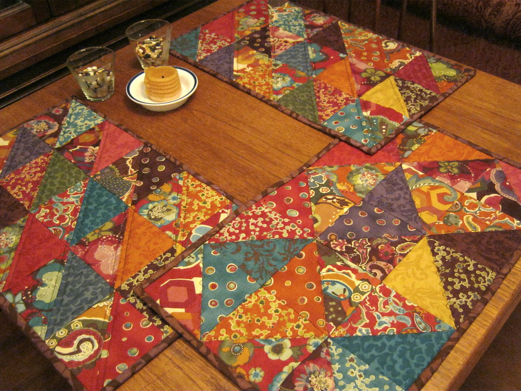 Placemats In Action Placemats Made Using Charm Packs Of