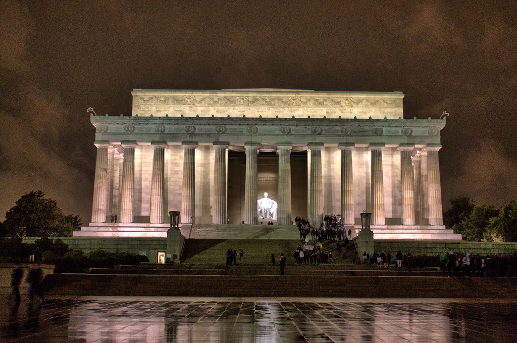 Lincoln Memorial At Night Washington Dc Hdr Raymond