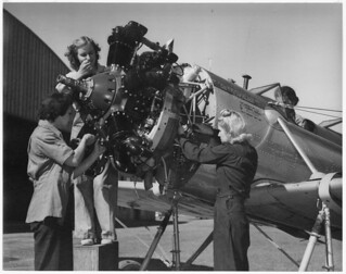 Women working on a plane in the Army Air Corps | by The U.S. National Archives