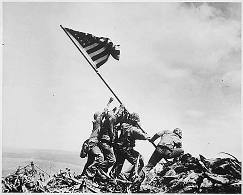 Photograph of Flag Raising on Iwo Jima, 02/23/1945 | by The U.S. National Archives
