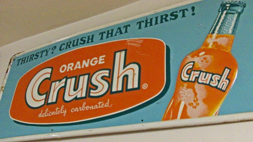 VINTAGE ORANGE CRUSH SODA ADVERTISING SIGN | by Bladensburg-BurgerChefGuy