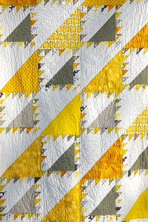 Completed Yellow and Grey Lady of the Lake Quilt | by During Quiet Time (Amy)