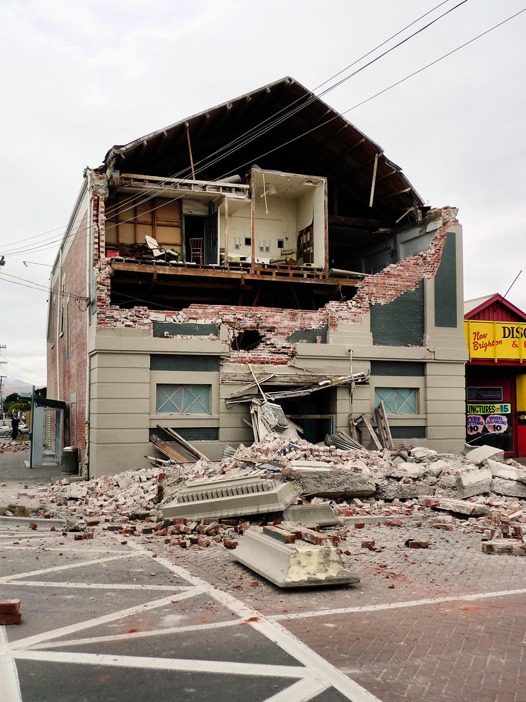 Building Damage New Brighton 22 Feb Canterbury Earthquake