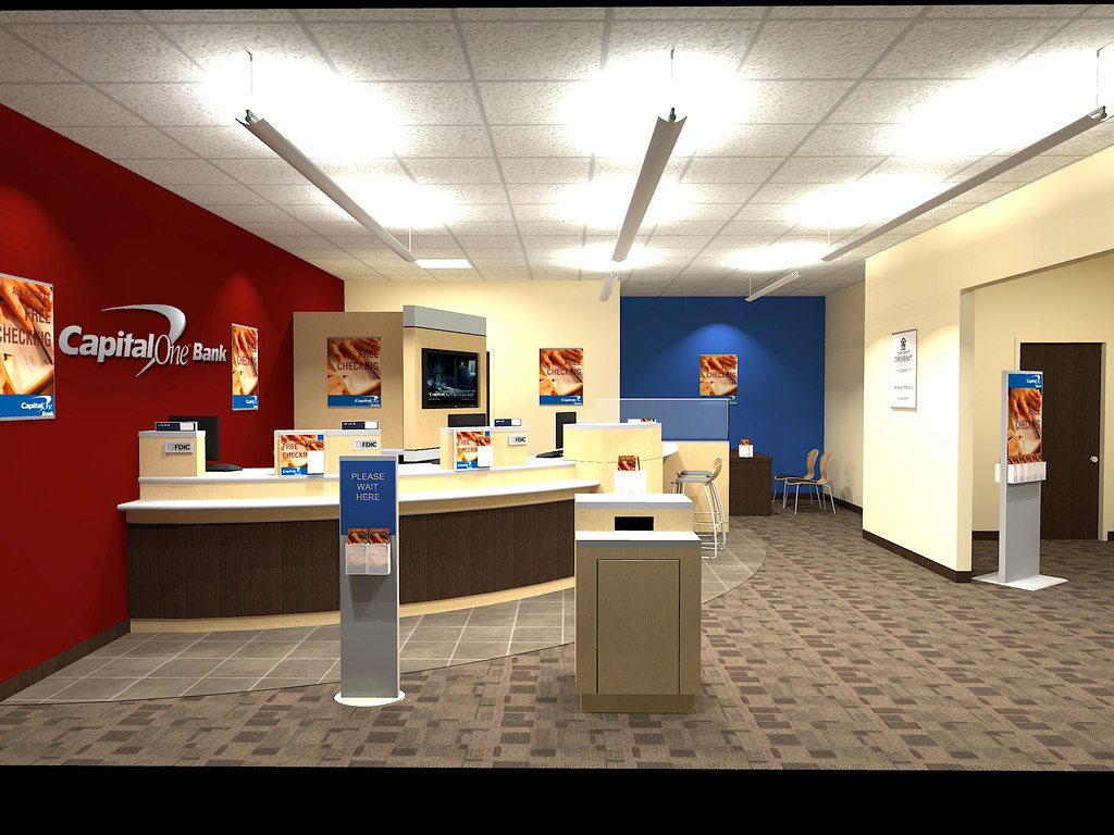 Bank design capital one bank interior design 2 design for Bank designs architecture