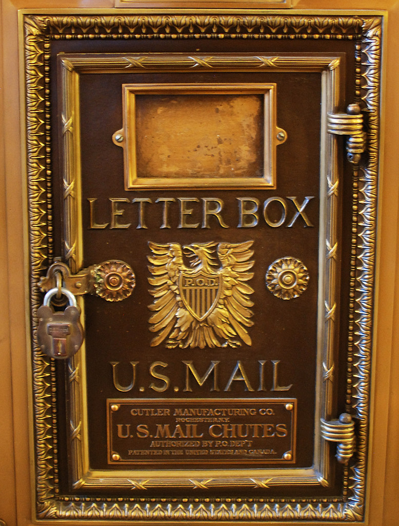 Vintage Mail Box: Cutler Mail Chute