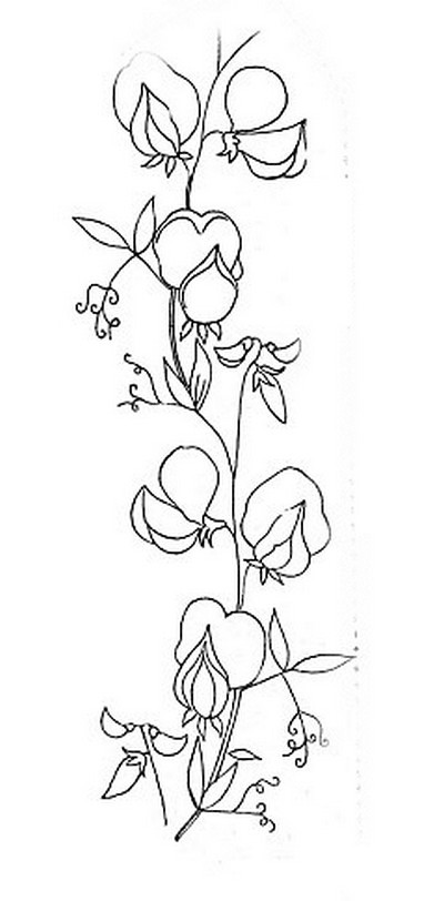 vintage embroidery pattern sweet peas mo flickr