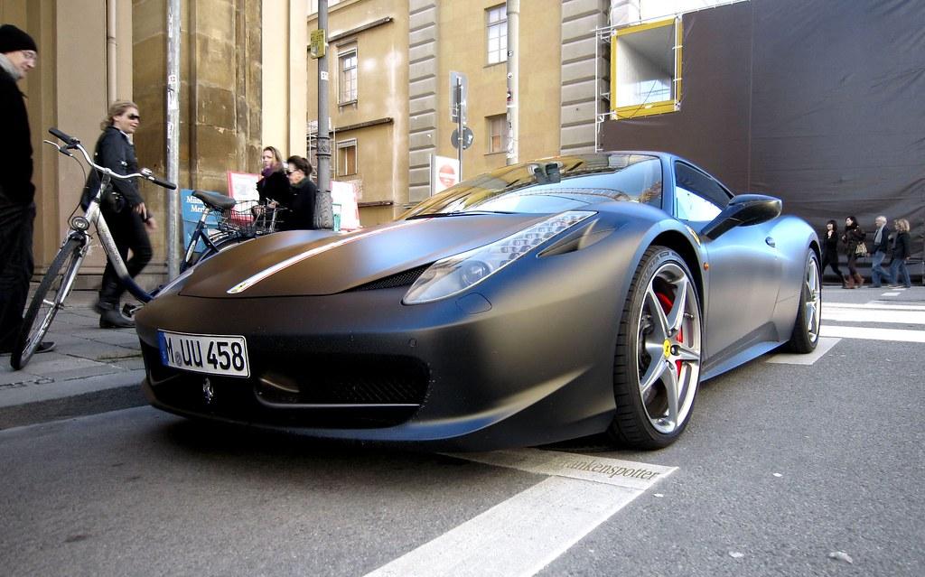 Matte Black Ferrari 458 Italia In Munich That S Not Only