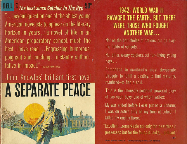 a reading report on a separate peace by john knowles A separate peace is a coming-of-age novel published in 1959 and written by john knowles the novel is knowles first and best-known published work a separate peace summary – book reports.