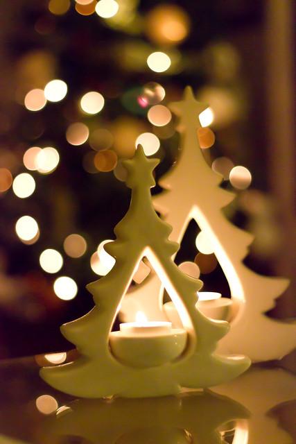 Fotografías de velas en Navidad