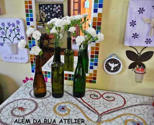 Artesanato Na Tv Arte Brasil ~ Reciclagem flores em garrafas de vidro Flickr Photo Sharing!