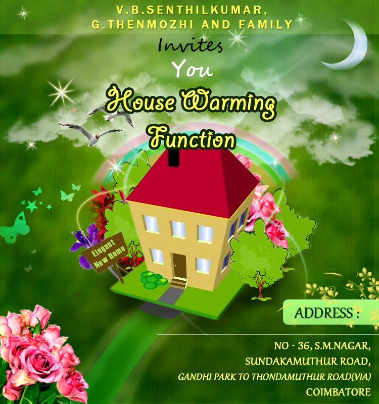House Warming Function - Invitation | this is an ...
