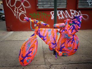 Olek Bicycle, Chinatown, New York City | by Vivienne Gucwa