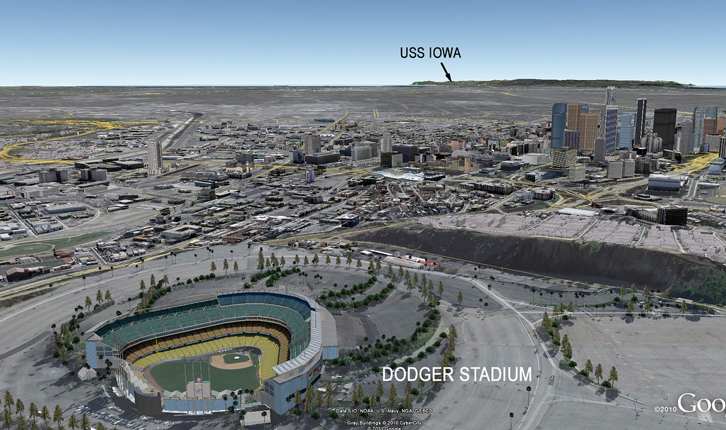 LA Dodger Stadium | Google Earth view For an aerial photo sh… | Flickr