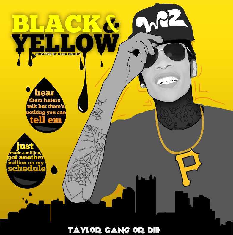 wiz khalifa black and yellow - 494×500