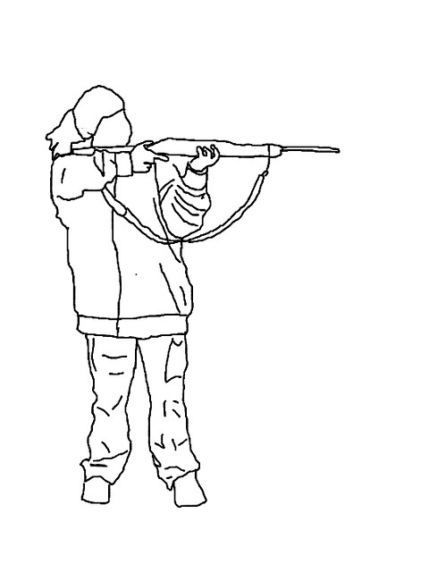 Line Drawing Gun : Girl with gun line art flickr photo sharing