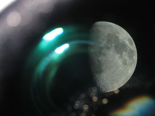 Moon-through-telescope | by velvetescape