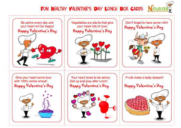 kids healthy lunch box notes- February : Print out healthy ...