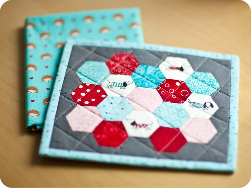 mug rug ~ received | by little girl quilts