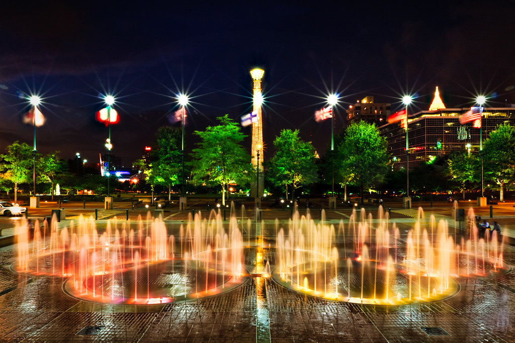Centennial Olympic Park A Key Feature Of The Park Is The