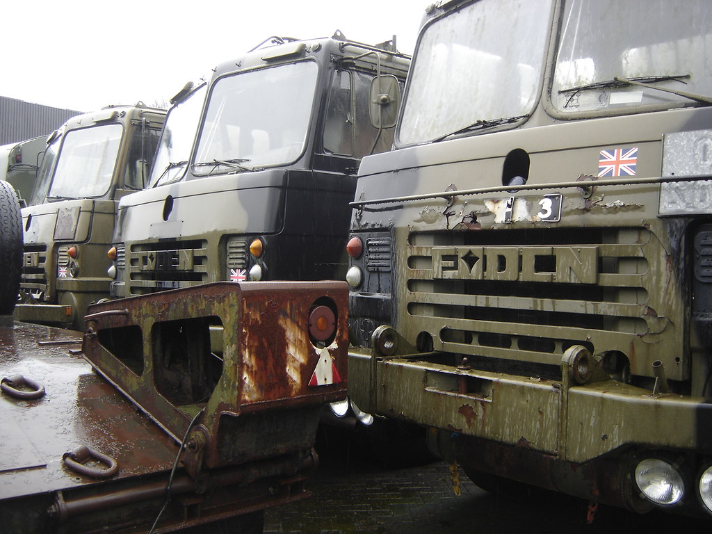 Used Military Vehicles >> Schaijk: Old Foden Army Trucks | These abandoned Foden truck… | Flickr