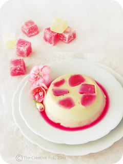 Vanilla Rose Panacotta c2-w | by The Creative Pot