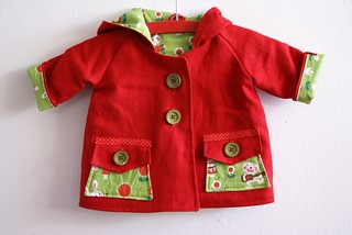 Bunny band baby jacket | by by BORA