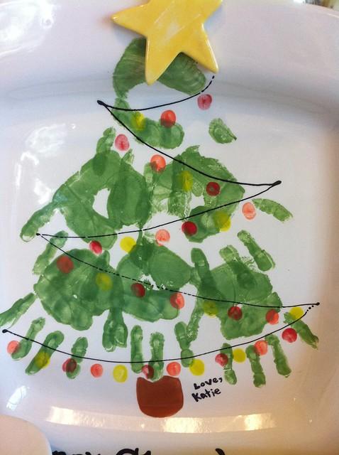 christmas tree handprint - photo #2
