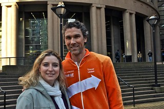 Trevor Linden doing the ING THRiVEtastic campaign | by miss604