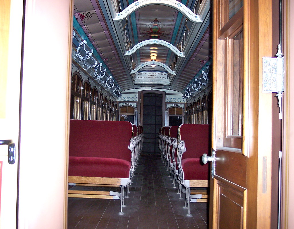 rr passenger car interior of late 1800 39 s virginia trucke flickr. Black Bedroom Furniture Sets. Home Design Ideas