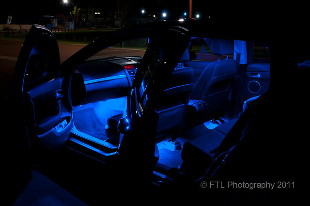 Car Interior With Blue Led Footwell Lights And Courtesy Lamps Flickr Photo Sharing
