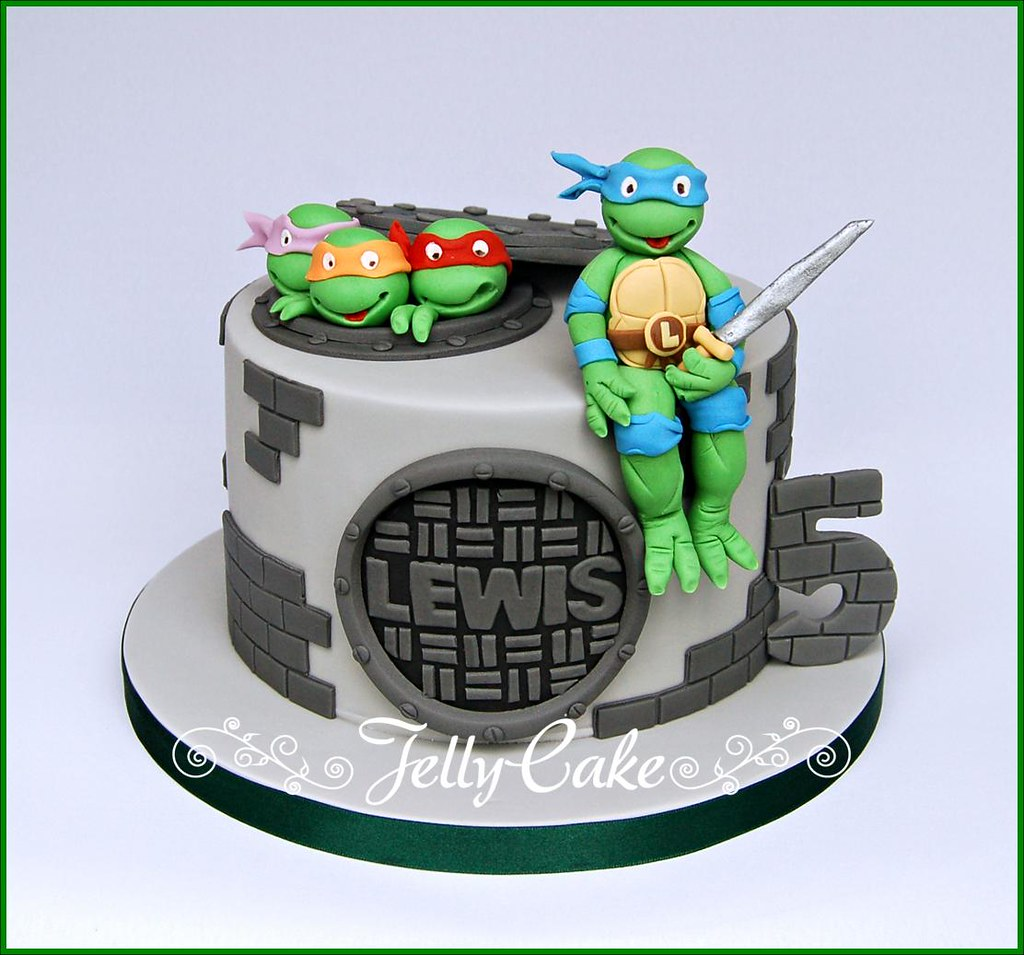 Teenage Mutant Ninja Turtles Birthday Cake A Tmnt