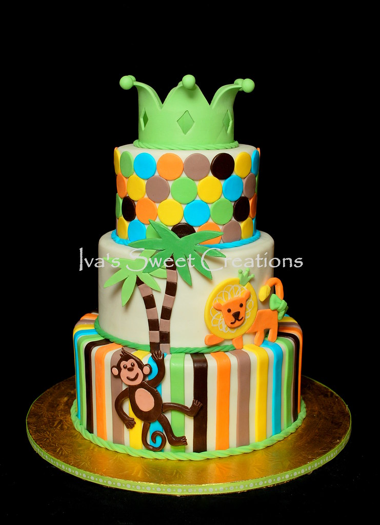 jungle theme baby shower cake ivanova flickr