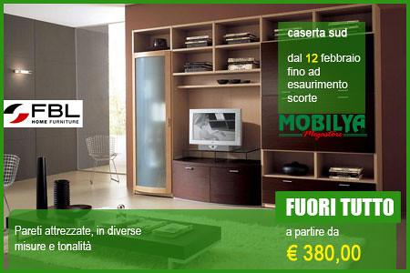 Parete attrezzata mobilya fuori tutto dal 12 febbraio for Mobilya caserta
