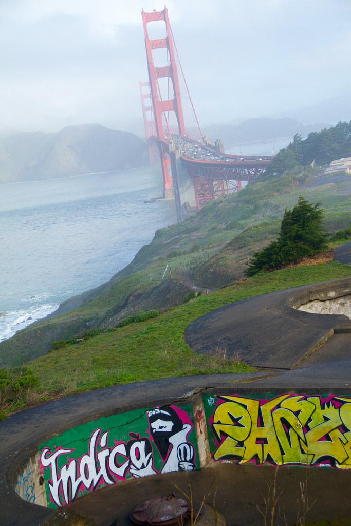 Golden Gate Bridge X Graffiti Graffiti With Great View