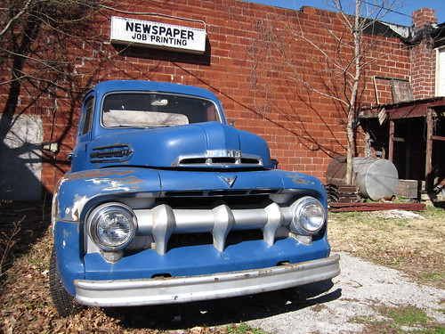 Canon A1200 - Blue Ford truck and Signage | by Nathan Stitt