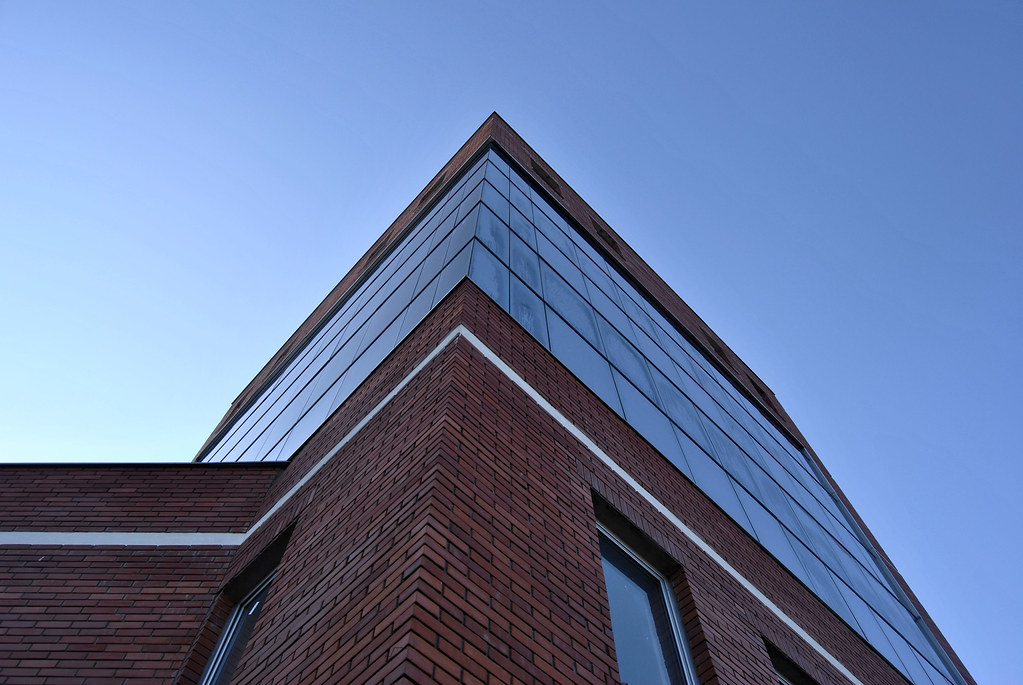 Modern Glass Brick Architecture Building Modern Glass