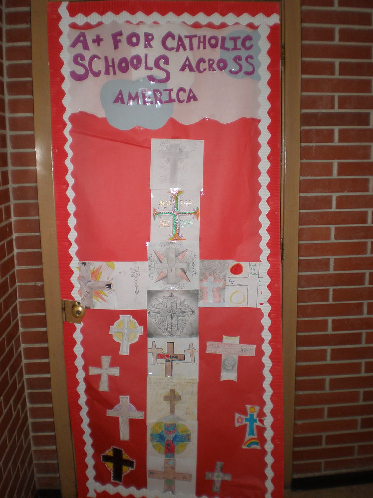 Catholic Schools Week Door Decorating 7 North As Part