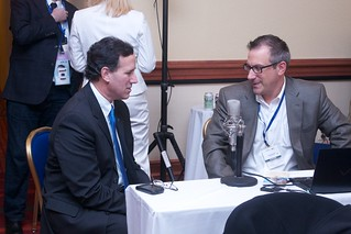 Rick Santorum interviews with bloggers at Bloggers Lounge | by Senator Rick Santorum