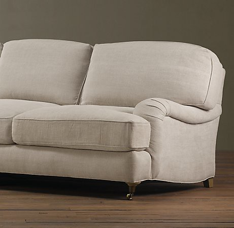 Restoration Hardware Englished Rolled Arm Sofa The