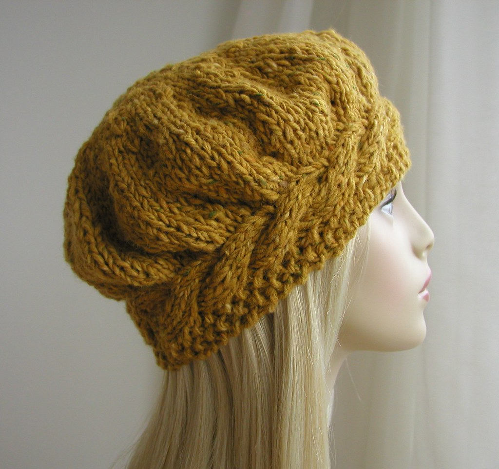 Knitting Jobs Ireland : Irish donegal tweed hand knitted beret a