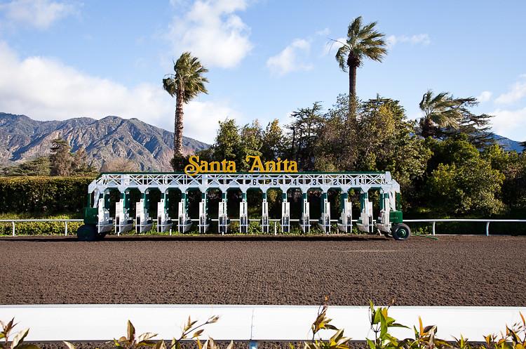 Santa Anita Race Track Starting Gate Taken On A Clear