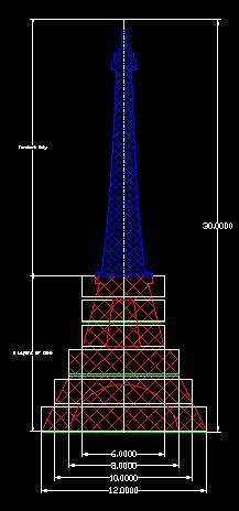 Eiffel Tower Cake Structure Dimensions And Pan Sizes