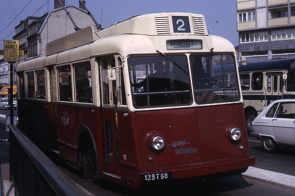 jhm 1966 0445 mulhouse trolleybus somua jean henri manara flickr. Black Bedroom Furniture Sets. Home Design Ideas