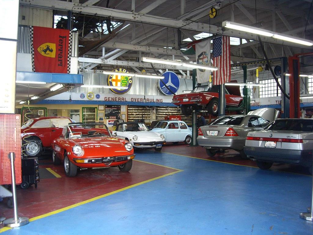 vintage car garage workshop terence s highlight of the who flickr