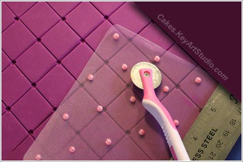 Diy Impression Mat Fondant Diamond Pattern Quilt Marke