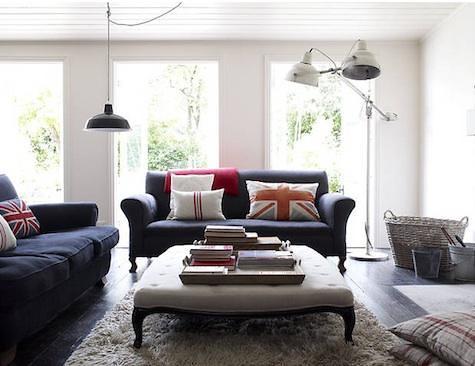Lynda Gardener {eclectic vintage industrial modern living room ...