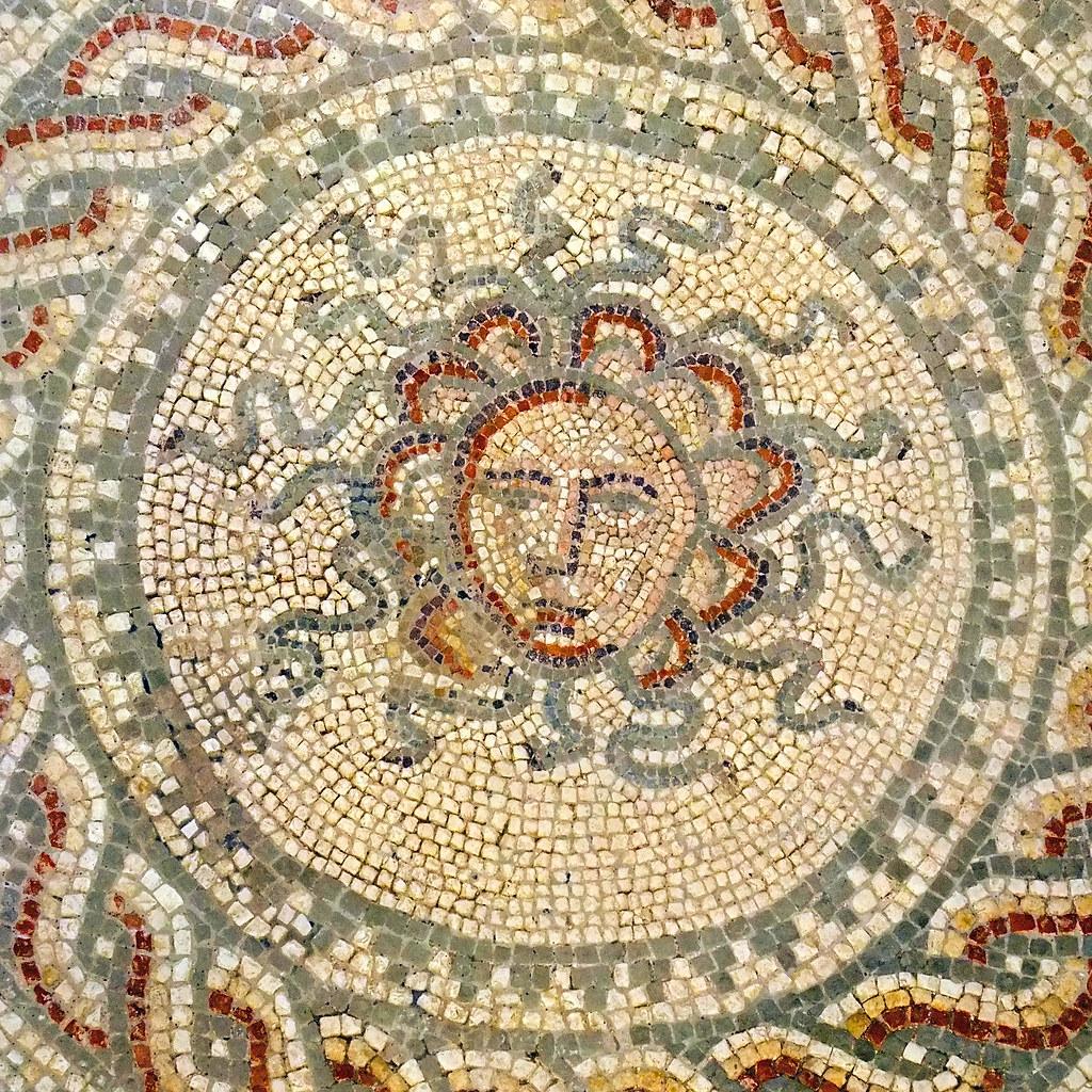 The Medusa mosaic at Bignor Roman Villa | Bignor Roman Villa ...