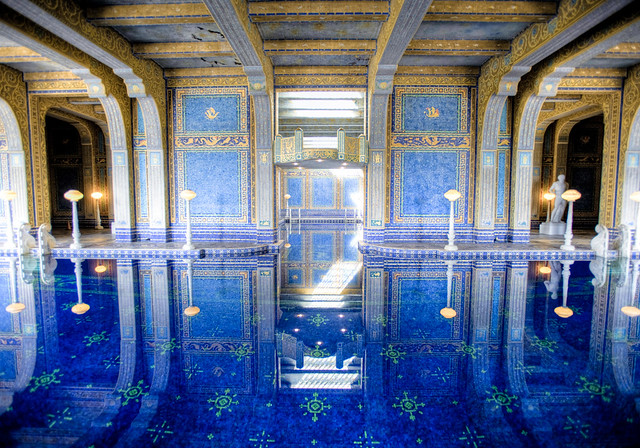 Hearst castle indoor pool explore and w 39 s photos on for Castle gardens pool
